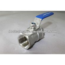 Reducir la válvula de bola de acero inoxidable de 1 PC con puerto 1000 WOG bastidor de inversión