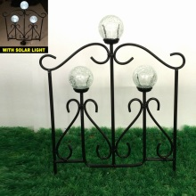 Bola de vidro Solar Light Linellae Metal Garden Fence Craft