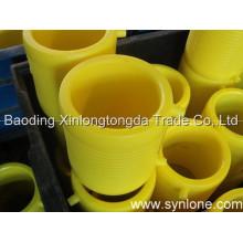 Soem-Plastikeinspritzung zerteilt mit gelber Farbe
