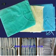Одноразовые СМС номера Сплетенный хирургический медицинский халат Поставщик ткани Kxt-Ик11