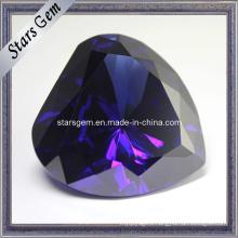 Big Size Heart Shape Tanzanite CZ Gemstone