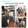 Мобильный портативный моторного масла машина для прикрепления этикеток маслозаливной