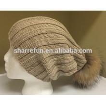Vente chaude Nouvelle Mode 100% pur bonnet de cachemire bonnet pour les femmes d'hiver utilisation