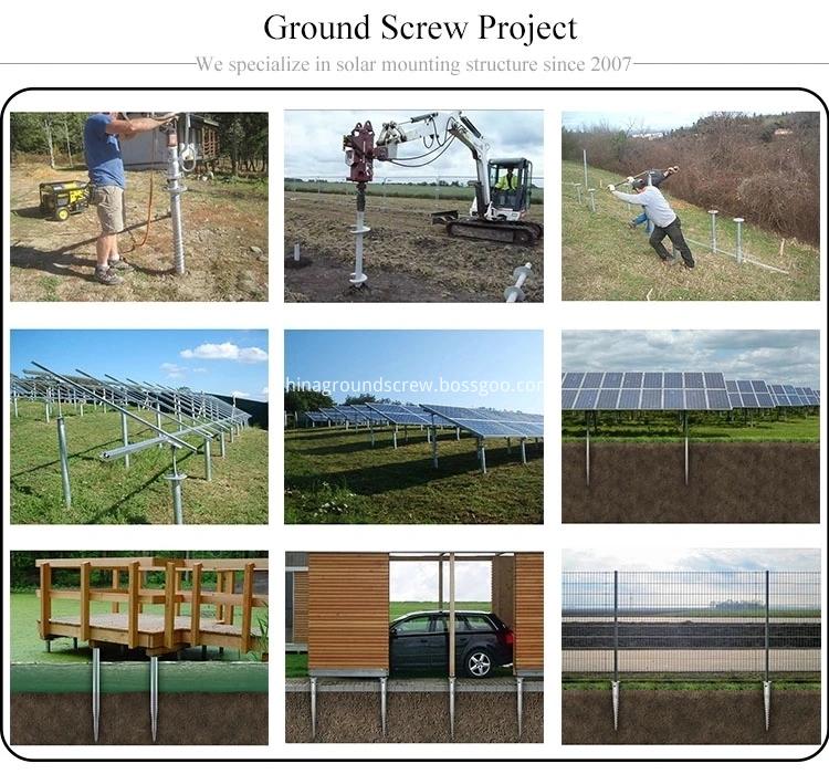 ground screw use