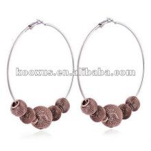 Mesh ball shamballa earring jewelry