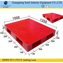 1200X1000 Doppelseitige 4-Wege-Einstiegs-Kunststoffpalette