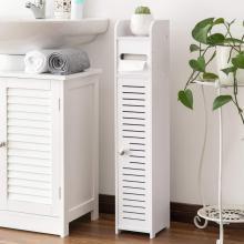 Armarios de almacenamiento de baño de esquina estrechos con puertas