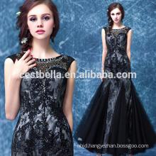 Plain Black Tube Dress Long Party Wear Black 2017 Evening Dress Elegant Evening Gown Black Mermaid