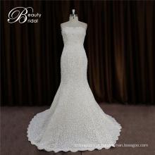 Simples, mas o vestido de casamento nupcial elegante