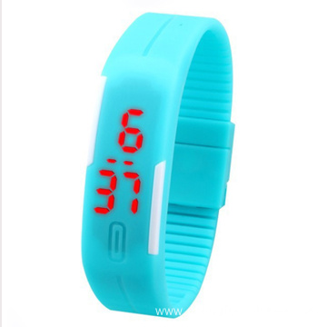Square Touch Screen Simple Led Sports Watch