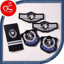 Fer en gros tissé fait sur commande de fer d'Eagle sur l'uniforme de vêtements