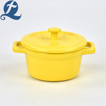 Home Decoration Colorful Double Soup Pot with Lid