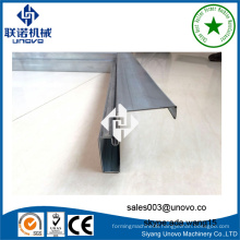 automatic steel door frame rollform line with punching and cutting