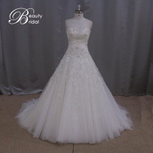 Fashion A-Line Bridal Dress Beading Lace