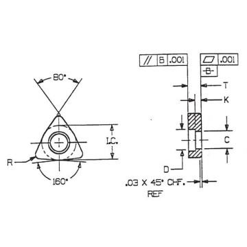 Carbide Shims (IWSN 633) avec haute qualité