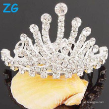Vente en gros Crystal tiara couronne strass cheveux peigne cheveux clips peignoirs de mariage chic