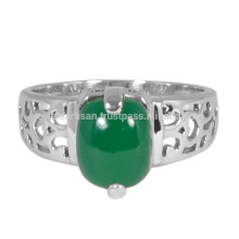 Ali Express Best Price Genuine Green Onyx Gemstone 925 Solid Silver Ring