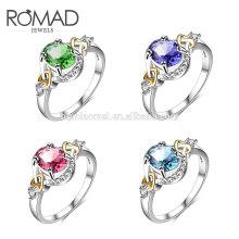 mais recente anel de dedo de ouro projeta guangzhou moda 14 k jóias de ouro mulheres de luxo anel para meninas
