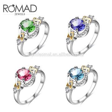 dernières anneaux d'or conçoit guangzhou mode 14 k bijoux en or luxe femmes anneau pour les filles