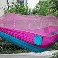2017 mode Handliche Fallschirm Hängematte Stoff Moskitonetz Camping Hängematte Einzelne Person Tragbare Indoor Outdoor Camping Hangmat