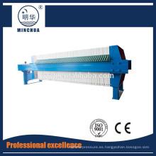 1250 Prensa de filtro de cámara automática, máquina de tratamiento de aguas residuales oleosas