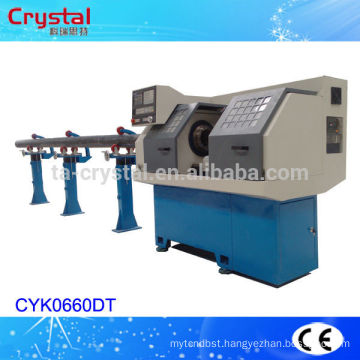 PVC pipe making machine price cnc pipe lathe machine CYK0660DT