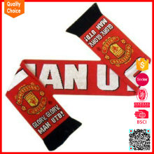 Latest style wholesale customized knitted fan scarf football