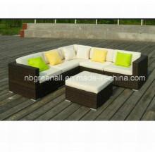 Patio Sofá al aire libre Conjuntos Muebles de sala de ratán