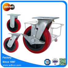 150 mm PU Wheel Cast Base Base Casters