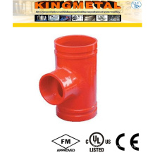 Ductile Iron Grooved Reducing Tee Fittings for Fire System