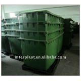 1100L 100% Virgin HDPE Plastic Waste Bin