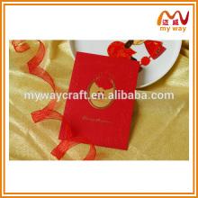 Свадебные пригласительные карточки Haute couture в бумаге для горячего тиснения