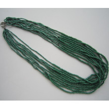 Summer Color Long Multi Stands Crystal Bead Necklace