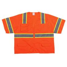 Camiseta de seguridad Hi-Vis de moda con cinta reflectante