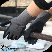 SRSAFETY 2016 new gloves/micro foam nitrile coated spandex hand glove