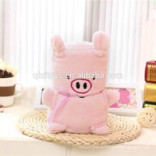 Personalizado design macio crianças animal cobertor fábrica china