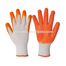 10 gauge 2 threads polycotton working gloves coated with latex on palm
