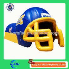 customized popular football team inflatable football helmet tunnel