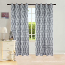Cortina de ventana Jacquard con cortina de 8 ojales