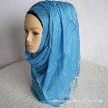 Twist fringe plain viscose hijab