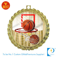 China Medalla de baloncesto plateado antiguo personalizado de la galjanoplastia de oro con el sellado de cobre