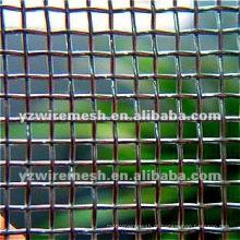Elec ou Hot-plated Galvanized Square Wire Mesh