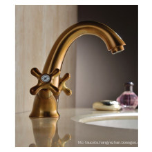 Luxury Two Handles Washbasin Water Faucet (DH38)