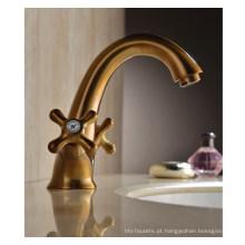 Luxo duas alças torneira de água lavatório (dh38)