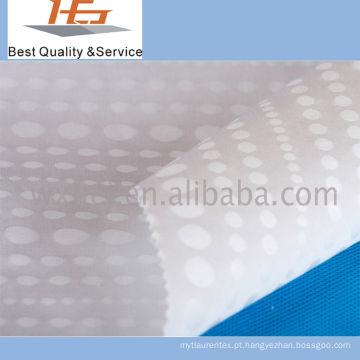 Poliéster branco de alta qualidade da tela do Dobby para a matéria têxtil home