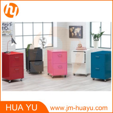 Office Furniture 2 Drawers Rolling Storage Filing Cabinet
