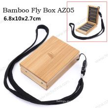 Nueva caja de bambú de la mosca de los aparejos de pesca del diseño