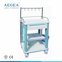 AG-IT006B1 ABS-Material medizinische Gerätewagen mit einer Schublade