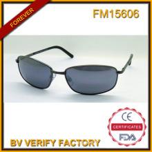 FM15606 à la mode de haute qualité soleil métal promotionnel avec lentille bleu
