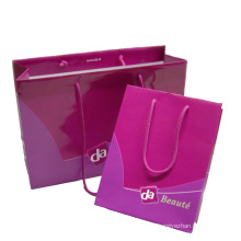 Color Printed Paper Shopping Gift Bag with Cotton Handle